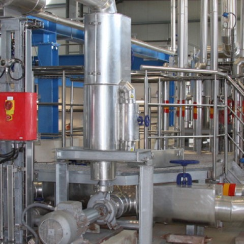 CONTROL AND SUPERVISORY SYSTEM FOR THERMAL SLUDGE TERATMENT PLANT