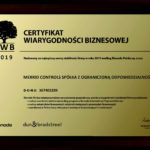 Bisnode Business Reliability Certificate